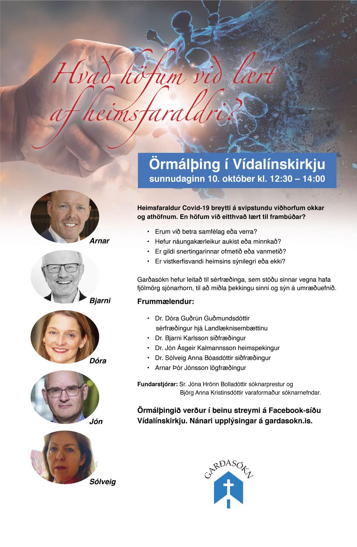 Örmálþing 3. október 2021